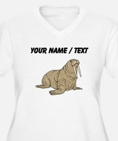 Custom Brown Walrus Plus Size T-Shirt