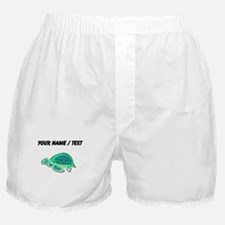 Custom Cartoon Turtle Boxer Shorts