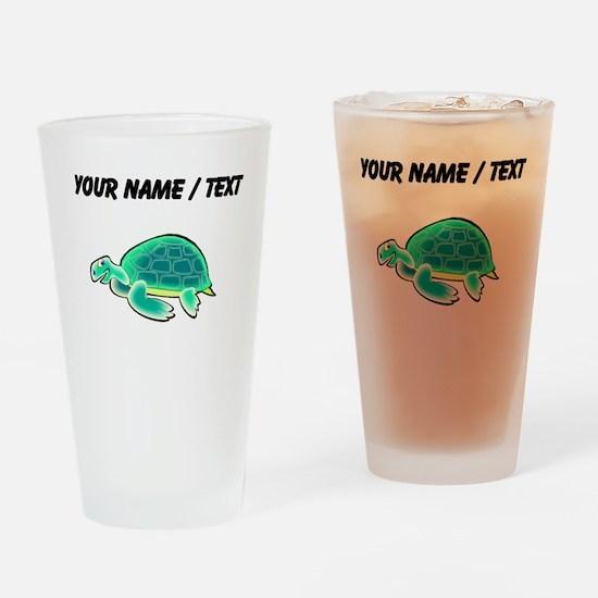 Custom Cartoon Turtle Drinking Glass