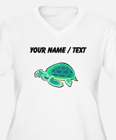Custom Cartoon Turtle Plus Size T-Shirt
