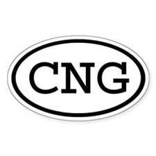 CNG Oval Oval Decal