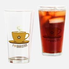 Love Baristas Drinking Glass