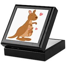 Cute Kangaroo and Baby Joey Keepsake Box