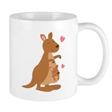 Cute Kangaroo and Baby Joey Mugs