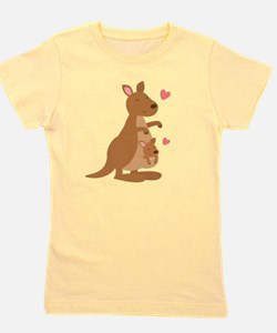 Cute Kangaroo and Baby Joey Girl's Tee