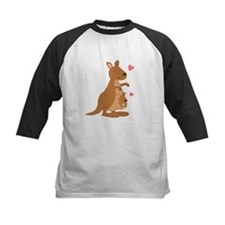 Cute Kangaroo and Baby Joey Baseball Jersey
