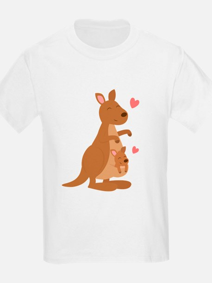 Cute Kangaroo and Baby Joey T-Shirt