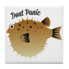 Dont Panic Tile Coaster