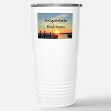 LOVE MIRACLES Stainless Steel Travel Mug