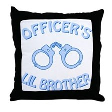 Officer's Lil Brother Throw Pillow