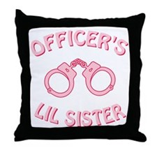 Officer's Lil Sister Throw Pillow