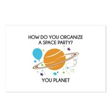 How Do You Organize A Space Party? Postcards (Pack