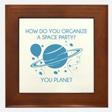 How Do You Organize A Space Party? Framed Tile