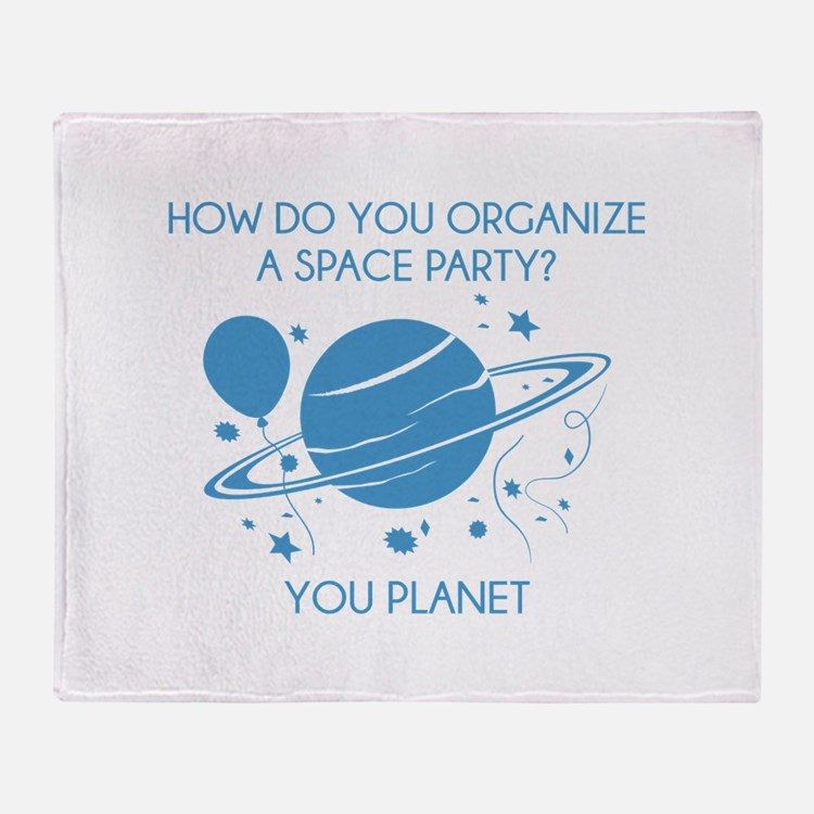 How Do You Organize A Space Party? Stadium Blanket