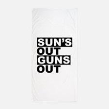 Sun's Out Guns Out Beach Towel