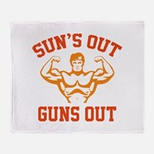 Sun's Out Guns Out Stadium Blanket