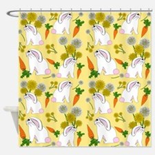 Bunnies and Rabbit Food Shower Curtain