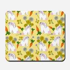 Bunnies and Rabbit Food Mousepad