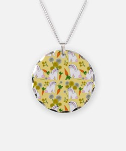 Bunnies and Rabbit Food Necklace