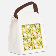 Bunnies and Rabbit Food Canvas Lunch Bag