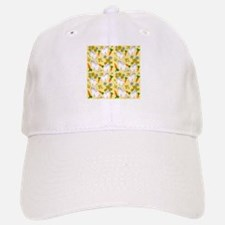 Bunnies and Rabbit Food on Yellow Baseball Baseball Cap