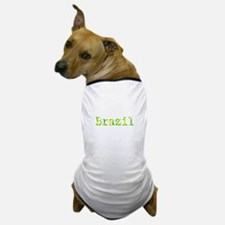 Brazil In Yellow And Green Typewriter Dog T-Shirt