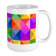 Jewel Tone Geometric Pattern Mug