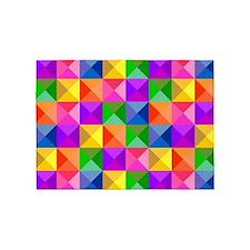 Jewel Tone Geometric Pattern 5'x7'Area Rug