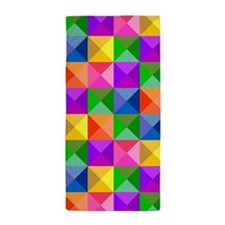 Jewel Tone Geometric Pattern Beach Towel