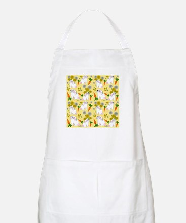Bunnies and Rabbit Food on Yellow Apron