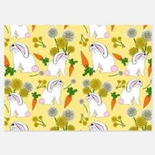 Bunnies and Rabbit Food on Yellow Invitations