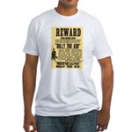 Billy The Kid Dead or Alive Fitted T-Shirt