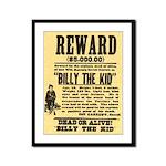 Billy The Kid Dead or Alive Framed Panel Print
