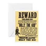 Billy The Kid Dead or Alive Greeting Cards (Packag