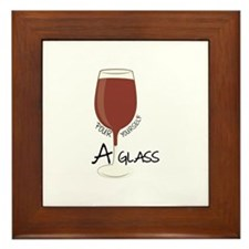 A Glass Framed Tile