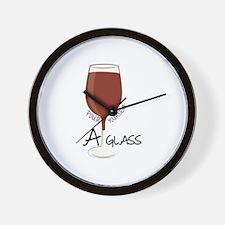 A Glass Wall Clock