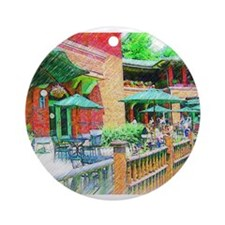 Chicago Cafe in Colored Pencil Ornament (Round)