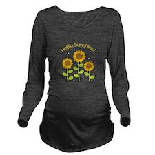 Hello Sunshine! Long Sleeve Maternity T-Shirt