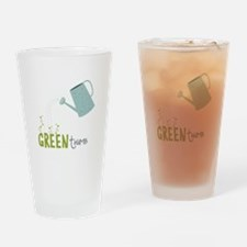 Green Thumb Drinking Glass