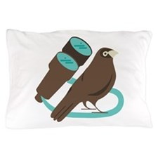Binoculars Bird Pillow Case