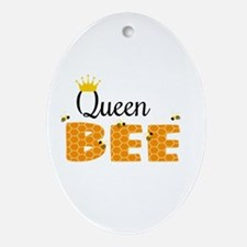 Queen Bee Ornament (Oval)