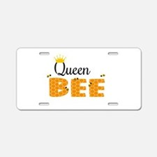 Queen Bee Aluminum License Plate