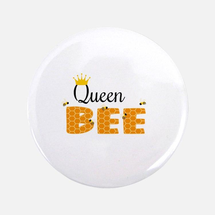 """Queen Bee 3.5"""" Button"""