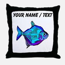 Custom Silver Dollar Fish Throw Pillow