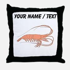 Custom Shrimp Throw Pillow