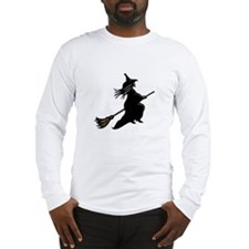 Witch On Broom Long Sleeve T-Shirt