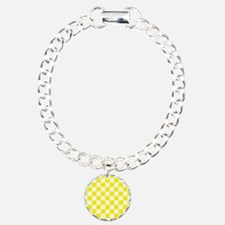 YELLOW AND WHITE Checkered Pattern Bracelet