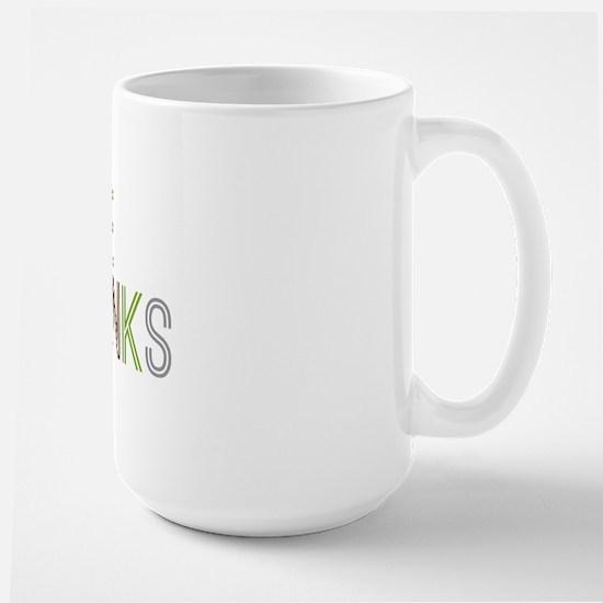 Give Thanks Large Mug
