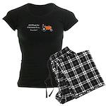 Orange Christmas Tractor Women's Dark Pajamas