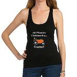 Orange Christmas Tractor Racerback Tank Top